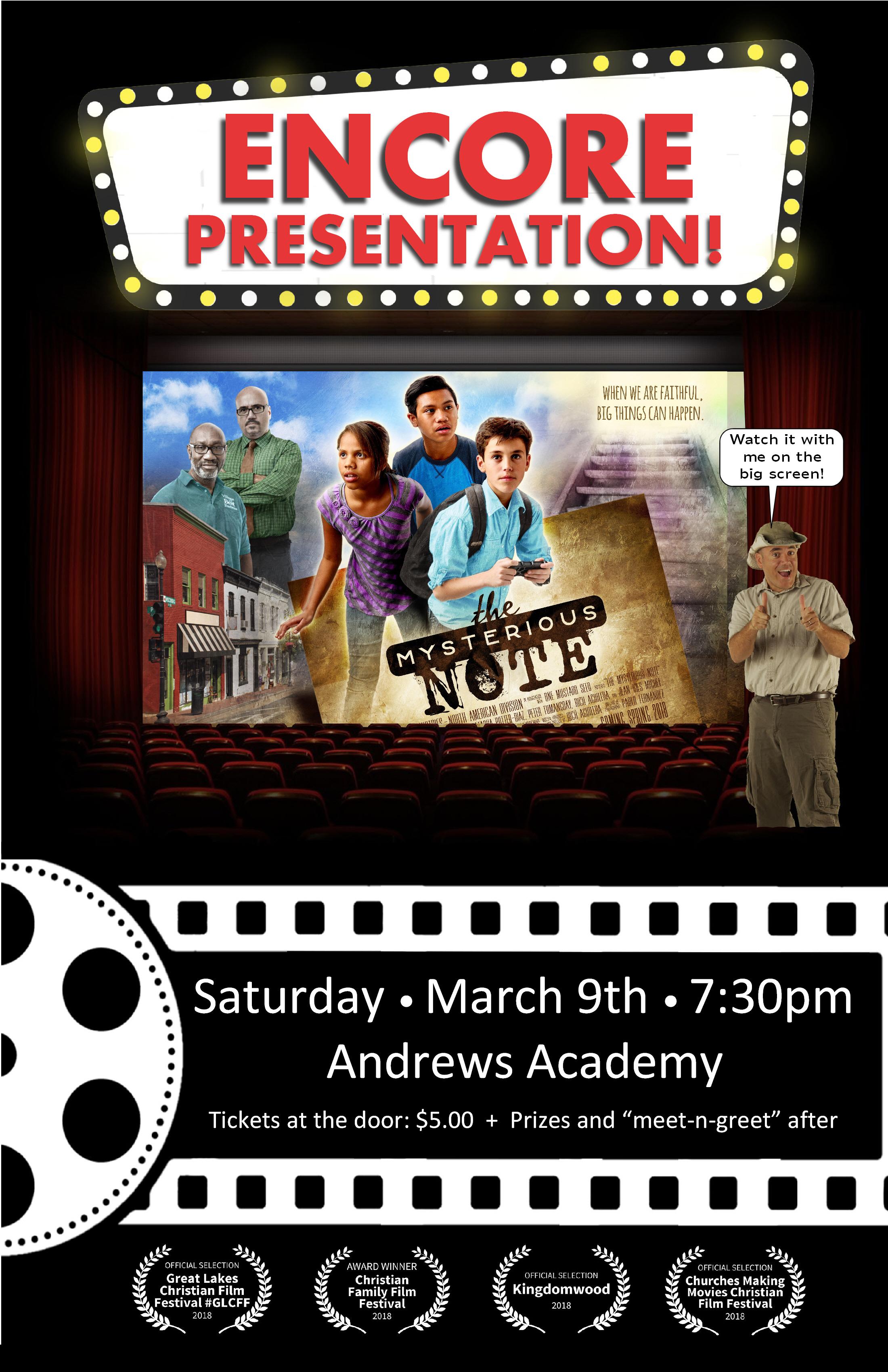 The Mysterious Note Encore Presentation Andrews Agenda Andrews University
