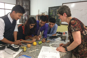Adjunct Professor Donates Calculators in Nepal - Bringing math alive for students in remote villages