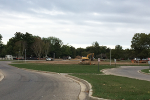 Health & Wellness Center Construction Updates. New parking lot, underground utility work and new roads underway