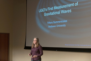 Summerscales Part of Nobel Prize Winning Research. Andrews professor and more than 20 undergraduate students part of gravitational waves research