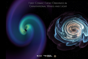 Tiffany Summerscales Part of Scientific Discovery - Both gravitational waves and light measured from the same source