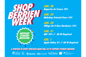 Andrews Holds 3rd Annual Shop Berrien Week - Supports student missionaries