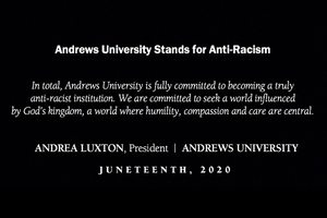 President Luxton: Andrews Stands for Anti-Racism. Commitment to pursue meaningful action that inspires lasting change