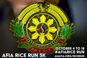 AFIA Hosts Rice Run - A virtual 5k from Oct. 4-18