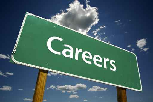 road sign with the word Careers