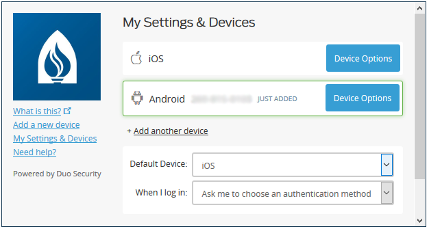 Add a New Smartphone in Duo :: Andrews University