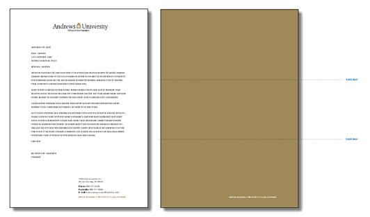 Letterhead Andrews University