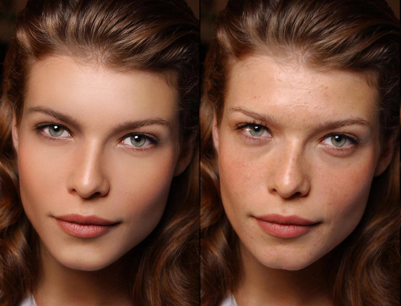 before and after retouching photos
