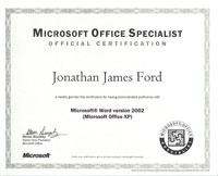 Ms Word Certificates  Microsoft Word Certificates