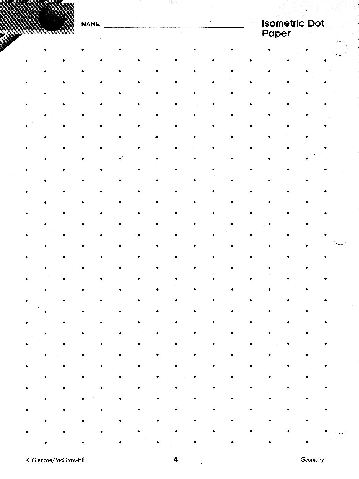 picture about Printable Isometric Dot Paper named Precalculus Paper and Habits